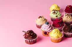 Cupcake. Dessert. Delicious cupcake on the table Stock Image