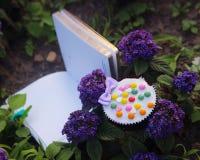 cupcake diary romantic garden memory Royalty Free Stock Photo
