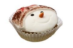 Cupcake die over wit wordt geïsoleerd stock fotografie