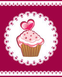 Cupcake on the doily. Royalty Free Stock Photography