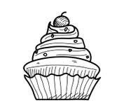 Cupcake Doodle Στοκ φωτογραφία με δικαίωμα ελεύθερης χρήσης
