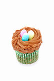 Cupcake with Easter eggs on top Stock Photos