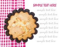 Cupcake in een bakselschotel Royalty-vrije Stock Foto