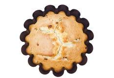 Cupcake in een bakselschotel. geïsoleerds Stock Foto