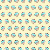 Cupcake - emoji pattern 61. Pattern of a emoji cupcake that can be used as a background, texture, prints or something else vector illustration