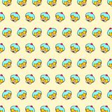Cupcake - emoji pattern 21. Pattern of a emoji cupcake that can be used as a background, texture, prints or something else vector illustration