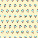 Cupcake - emoji pattern 22. Pattern of a emoji cupcake that can be used as a background, texture, prints or something else vector illustration