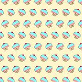Cupcake - emoji pattern 25. Pattern of a emoji cupcake that can be used as a background, texture, prints or something else royalty free illustration