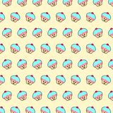 Cupcake - emojipatroon 56 royalty-vrije illustratie