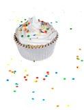 Cupcake en bestrooit Stock Foto's