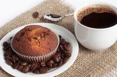 Cupcake en koffie royalty-vrije stock foto