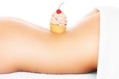 Cupcake en lichaam Royalty-vrije Stock Afbeeldingen