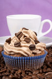 Cupcake and espresso Royalty Free Stock Photography