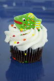 Cupcake with fish decoration Stock Photography