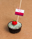 Cupcake with flag of monaco Royalty Free Stock Image