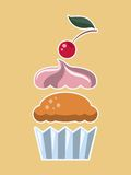 Cupcake. Stock Photos