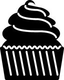 Cupcake flat icon illustration vector solid color. An icon for tea and coffee time, including snacks like biscuits and some other elements for tea time and Stock Image