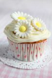 Cupcake with flowers Royalty Free Stock Photos