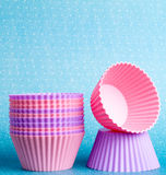Cupcake forms Royalty Free Stock Photography