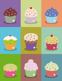 Cupcake frames Stock Photos