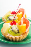 Cupcake with fruits Royalty Free Stock Image