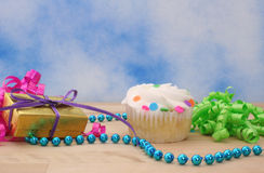 Cupcake and Gift Royalty Free Stock Photo