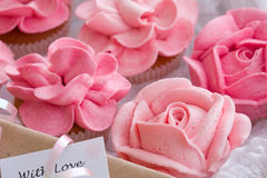 Cupcake gift box Stock Photos