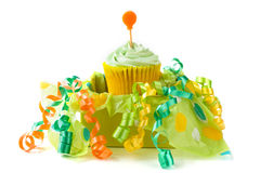 Cupcake in gift box Stock Photography