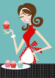 Cupcake Girl Stock Images