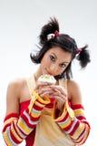 Cupcake girl Royalty Free Stock Photos