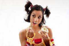 Cupcake girl royalty free stock image