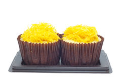 Cupcake with golden threads Stock Images