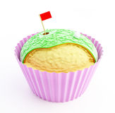 Cupcake Golf. 3d on a white background Royalty Free Stock Photography