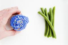 Cupcake of groenten Stock Afbeelding