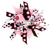 Cupcake Hair Ribbon Bow Royalty Free Stock Photo
