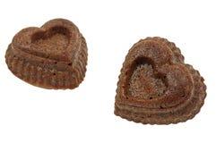 Cupcake heart Royalty Free Stock Image