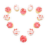 Cupcake heart Stock Images