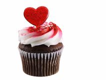 Cupcake heart stock image