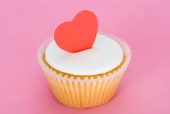 Cupcake with Heart Stock Image