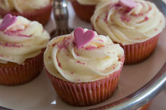 Cupcake with heart Royalty Free Stock Photography