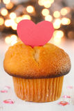 Cupcake with heart Stock Photos