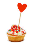 Cupcake with hearts Stock Image