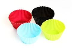 Cupcake holders stock photo