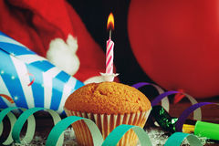 Cupcake with holiday decorations Stock Image