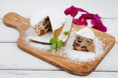 Cupcake homemade served on a wooden Boards Stock Images