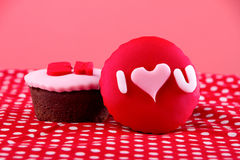 Cupcake with I love you written on it Stock Photo