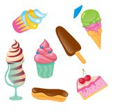 Cupcake, ice cream, cake Royalty Free Stock Image