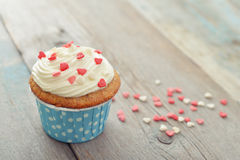 Cupcake with icing Stock Images