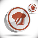 Cupcake icon. Royalty Free Stock Images