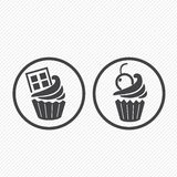 Cupcake icons Stock Photography